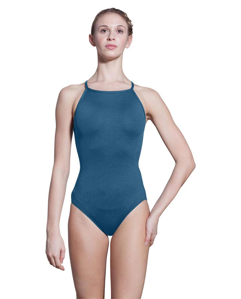 Adults Camisole Spiderweb Back Dance Leotard Rory BLUE