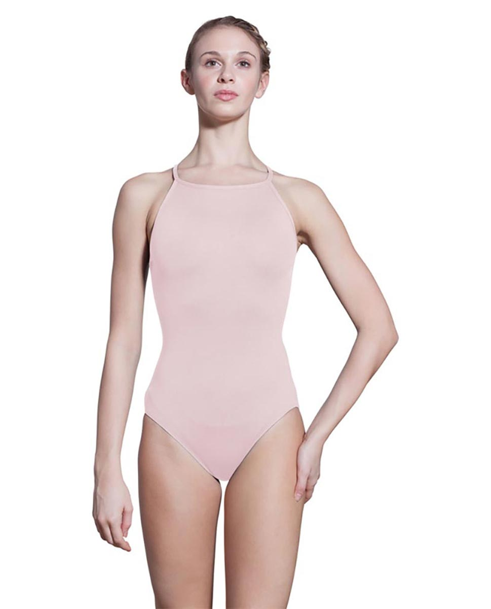 Adults Camisole Spiderweb Back Dance Leotard Rory PNK