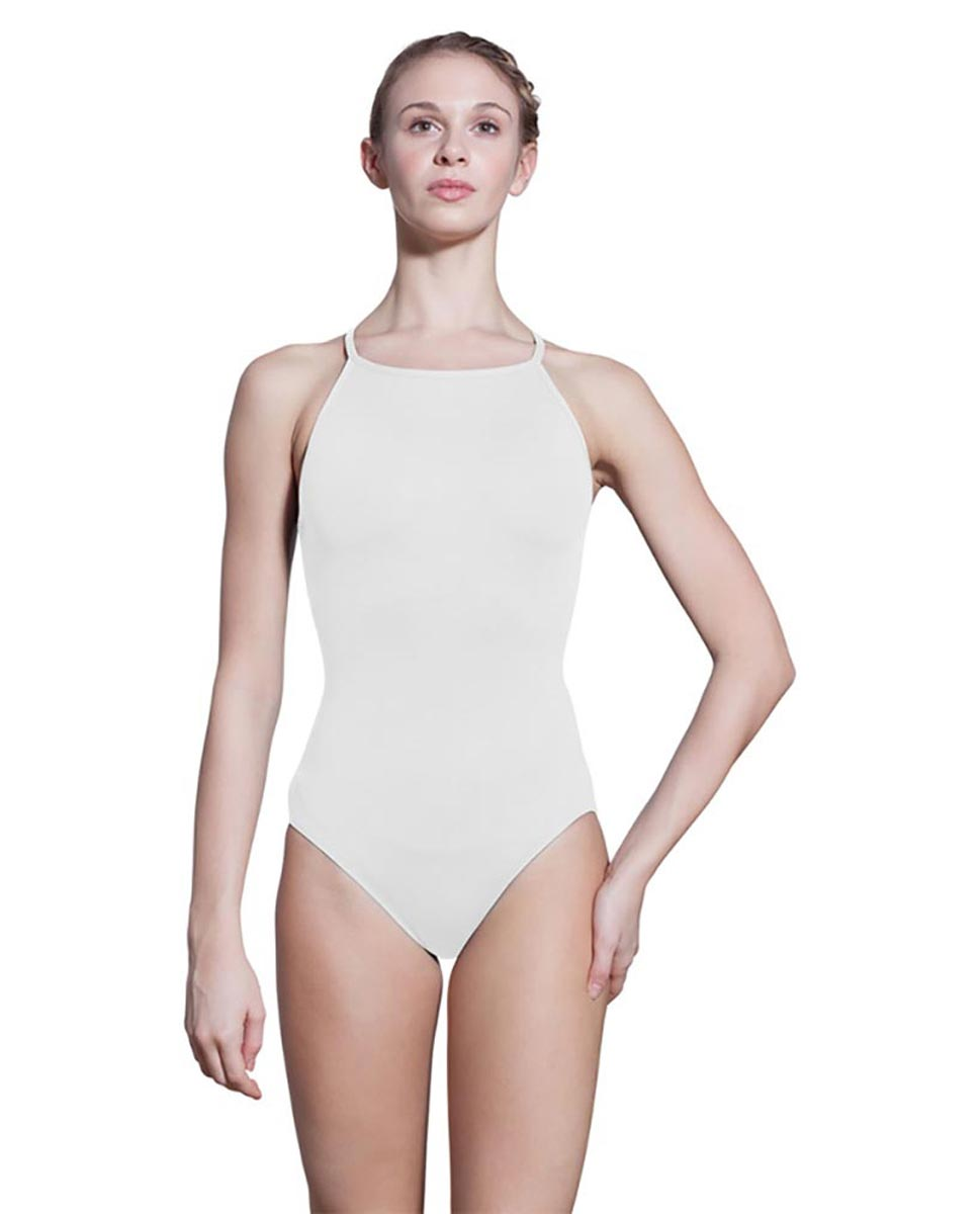 Adults Camisole Spiderweb Back Dance Leotard Rory WHI