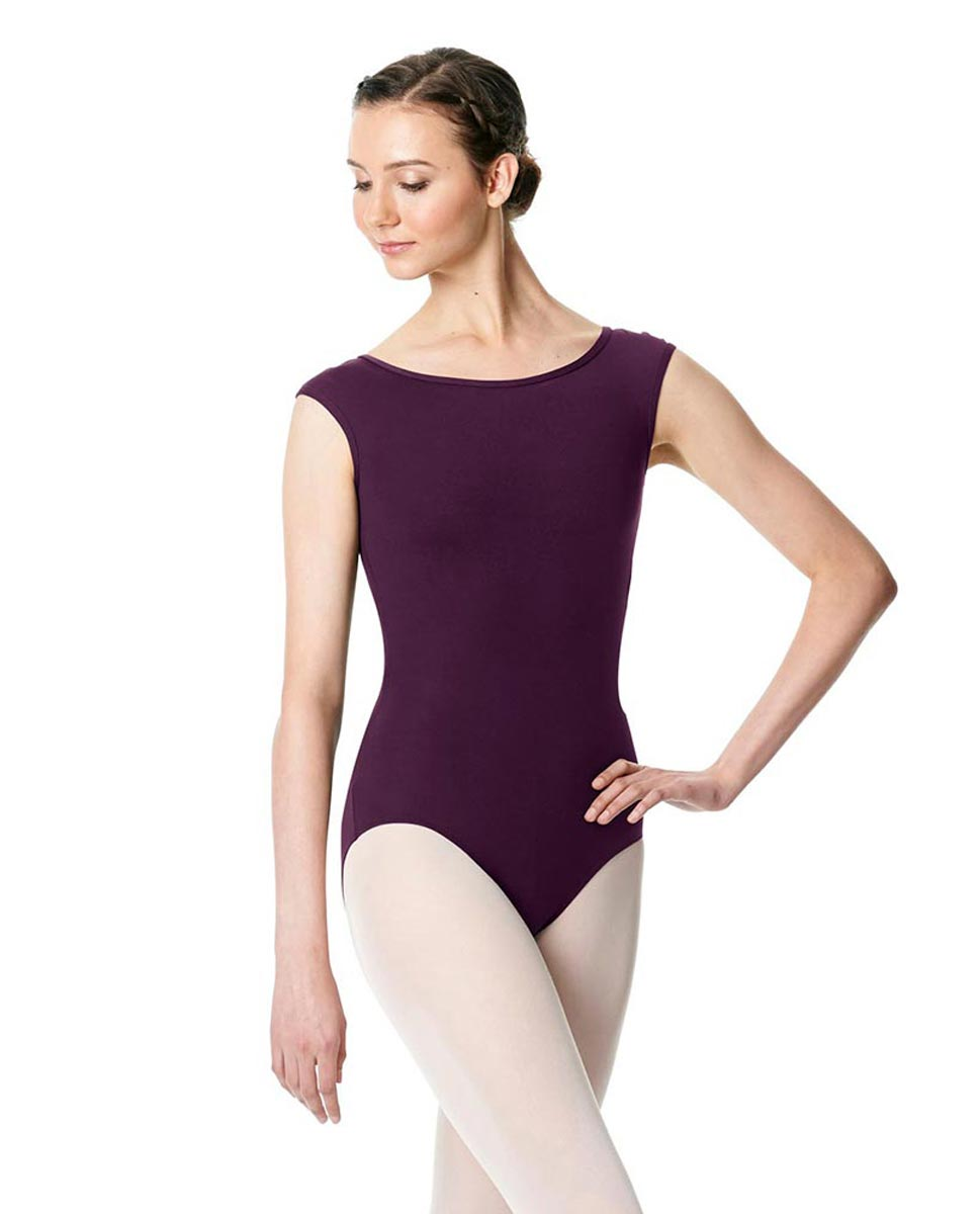 Cap Sleeve Open Back Dance Leotard Farah AUB