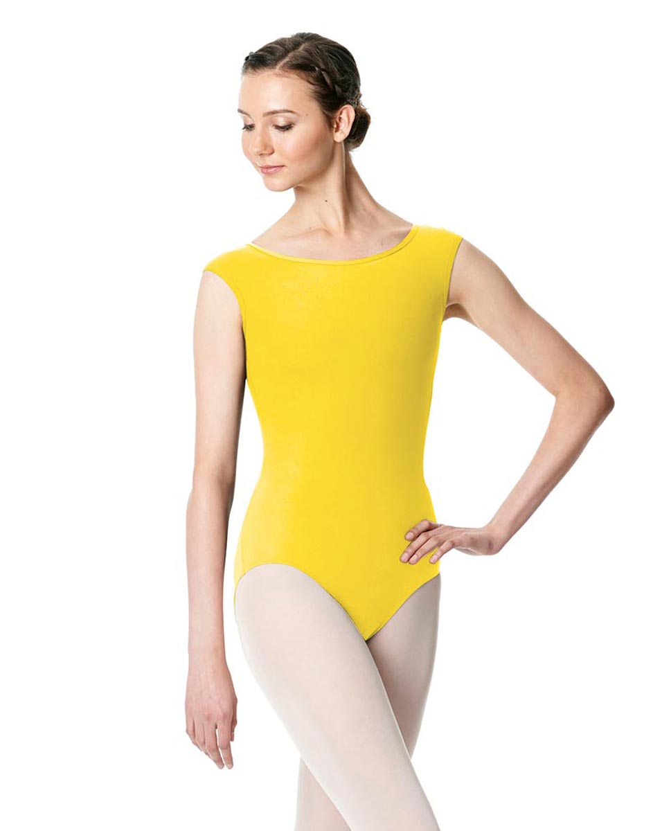 Cap Sleeve Open Back Dance Leotard Farah AYEL