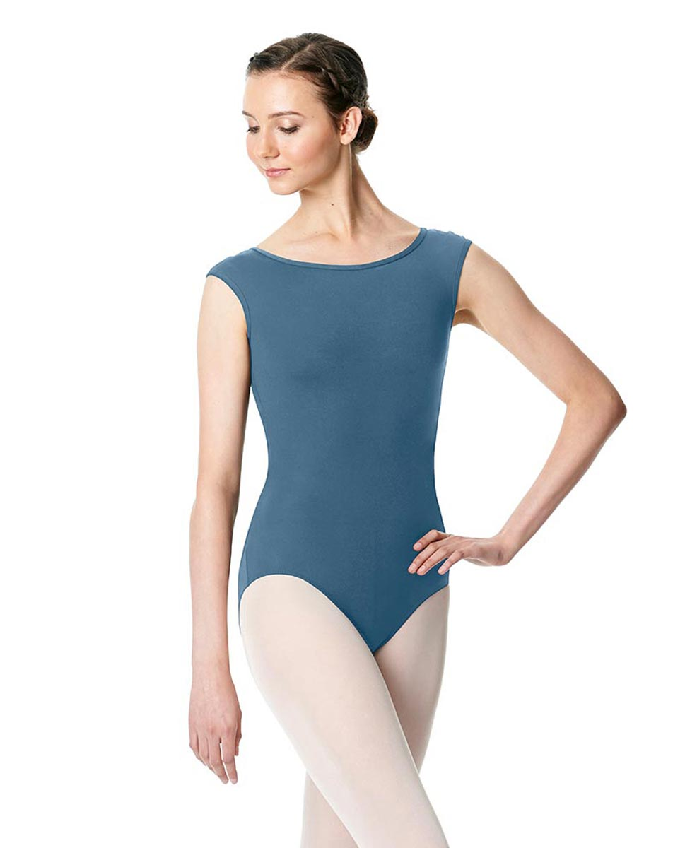 Cap Sleeve Open Back Dance Leotard Farah BLUE