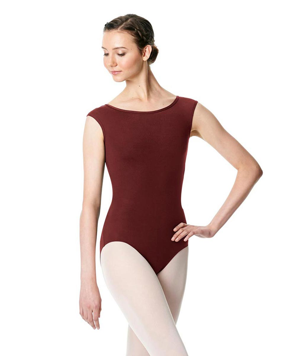 Cap Sleeve Open Back Dance Leotard Farah BUR
