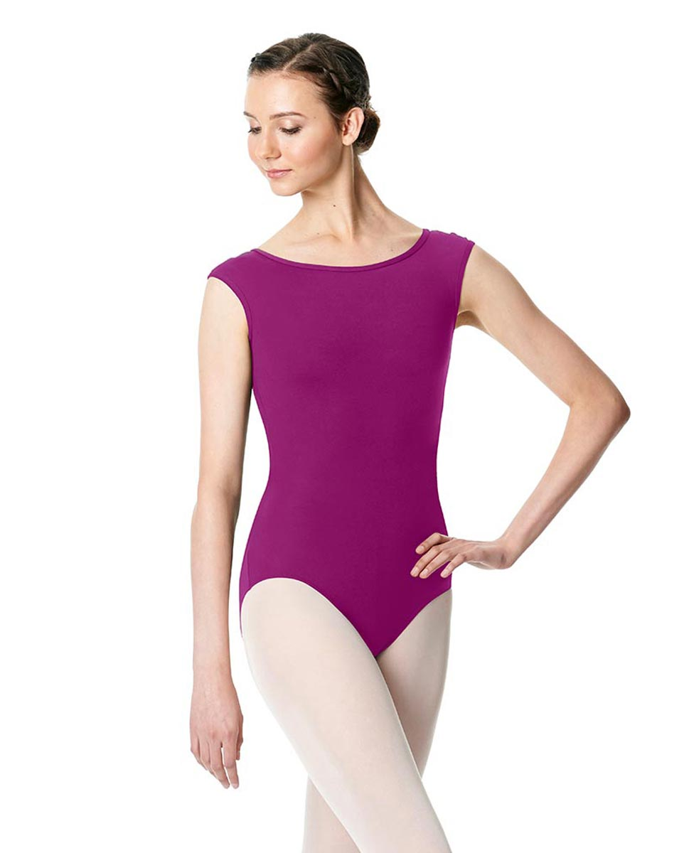 Cap Sleeve Open Back Dance Leotard Farah GRAP