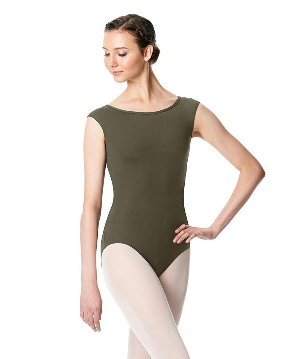 Cap Sleeve Open Back Dance Leotard Farah KHA