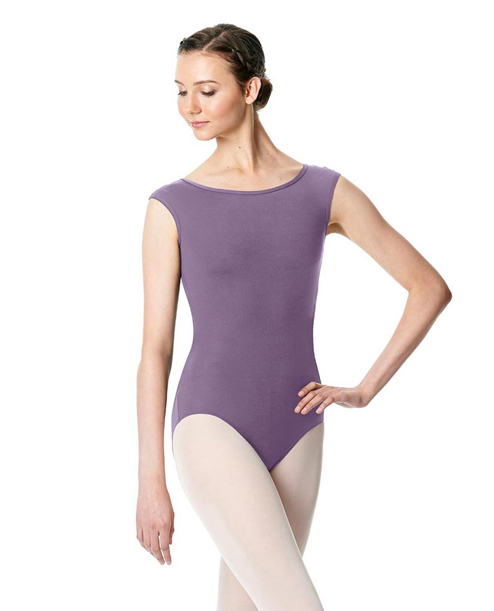 Cap Sleeve Open Back Dance Leotard Farah LAV