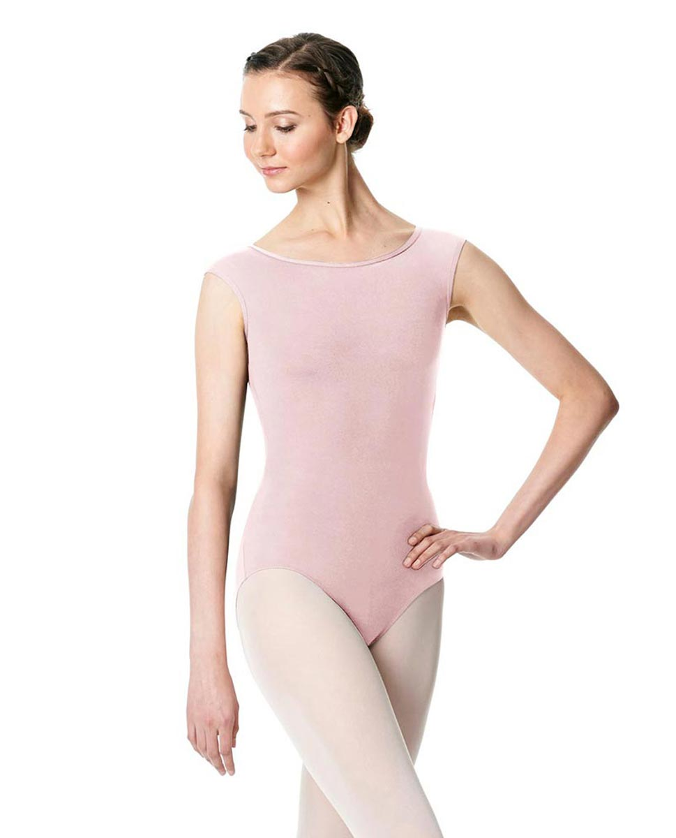 Cap Sleeve Open Back Dance Leotard Farah PNK