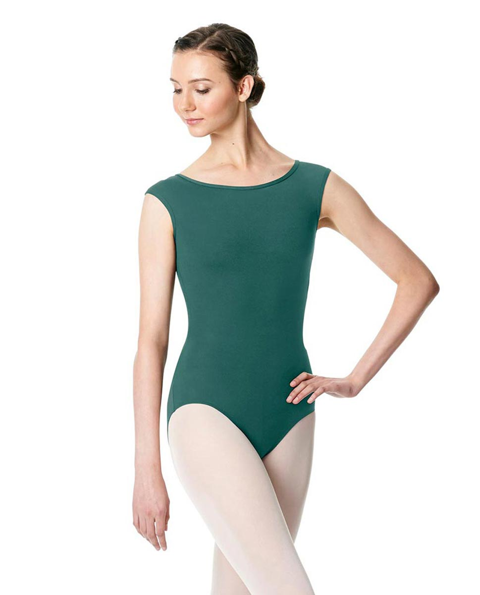 Cap Sleeve Open Back Dance Leotard Farah TEA