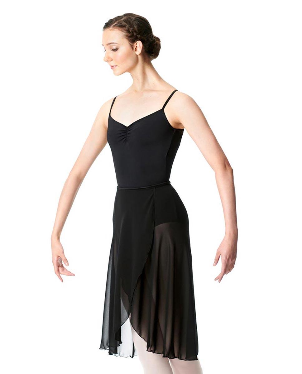 Midi Length Wrap Dance Skirt Addison BLK