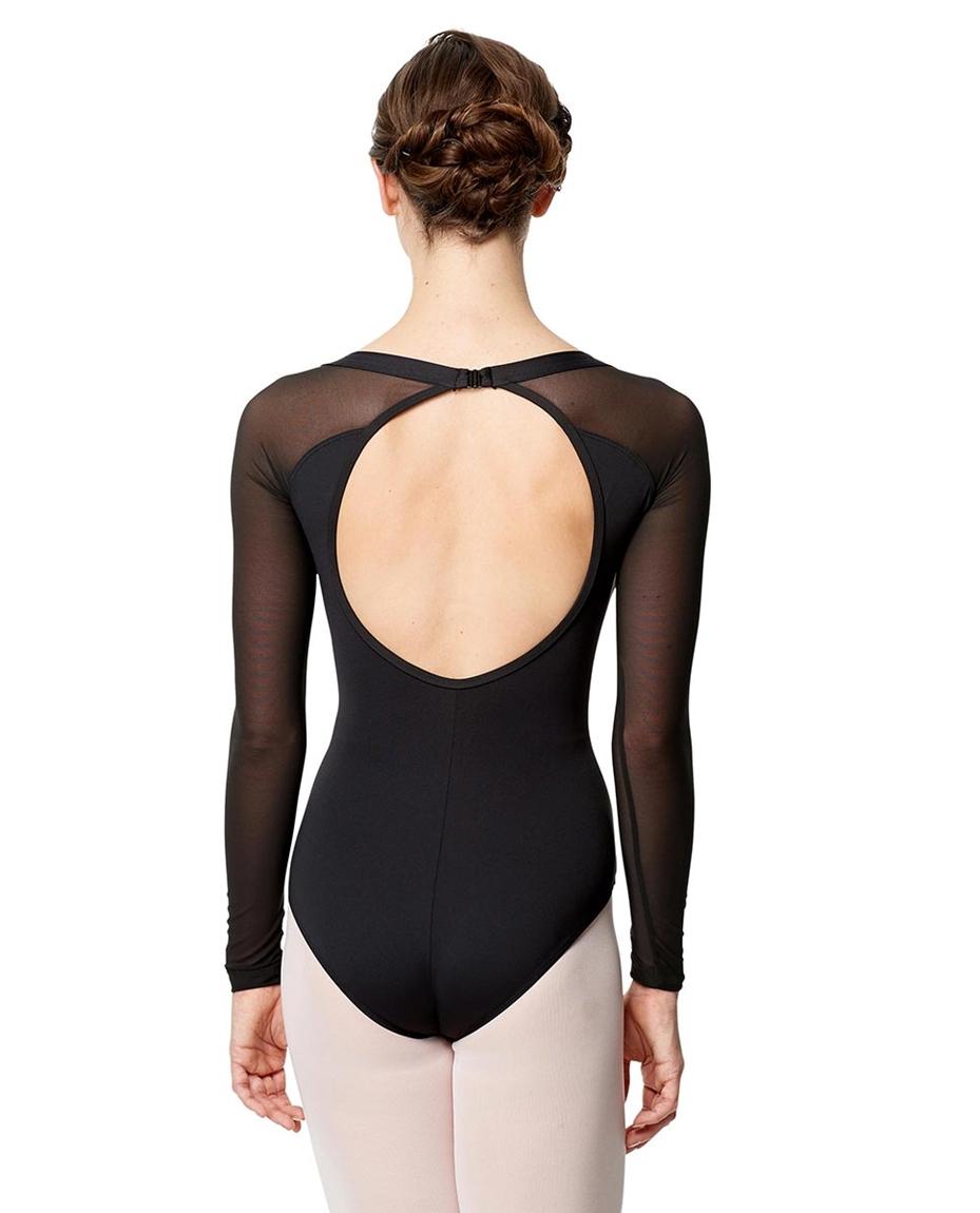 Adult Microfiber Long Sleeve Fashion Leotard Viviane 2-adult-microfiber-long-sleeve-fashion-leotard-viviane