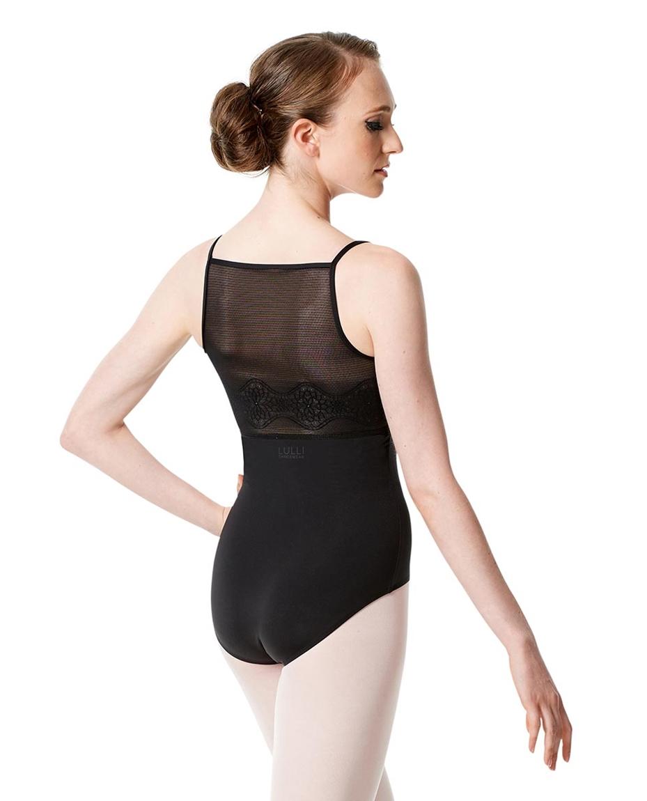 Women's Camisole Mesh Ballet Leotard Federica back-womens-camisole-mesh-dance-leotard-federica
