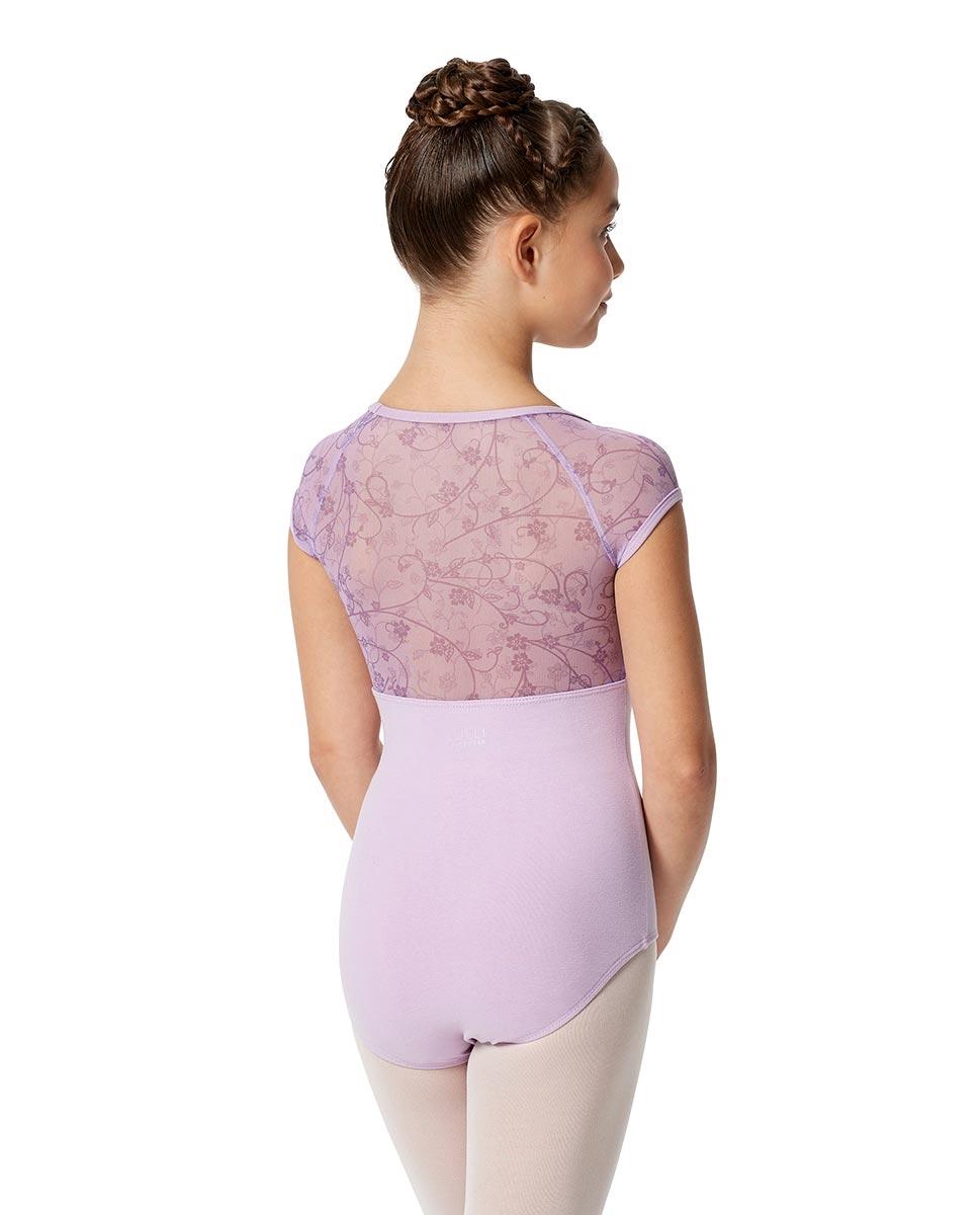 Girls Cap Sleeve Lace Dance Leotard Amita back