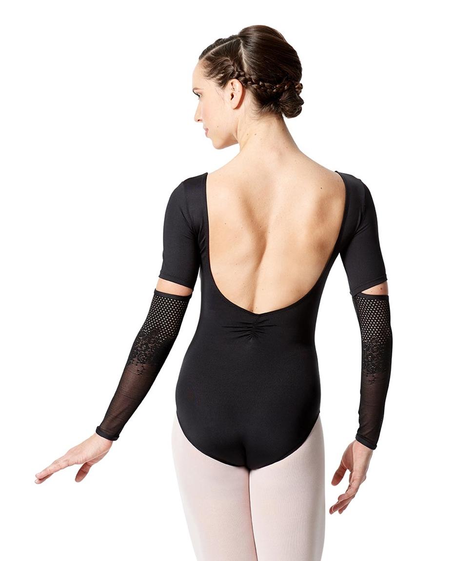 Womens Long Sleeve Lace Dance Leotard Zaira back-womens-long-sleeve-lace-dance-leotard-zaira