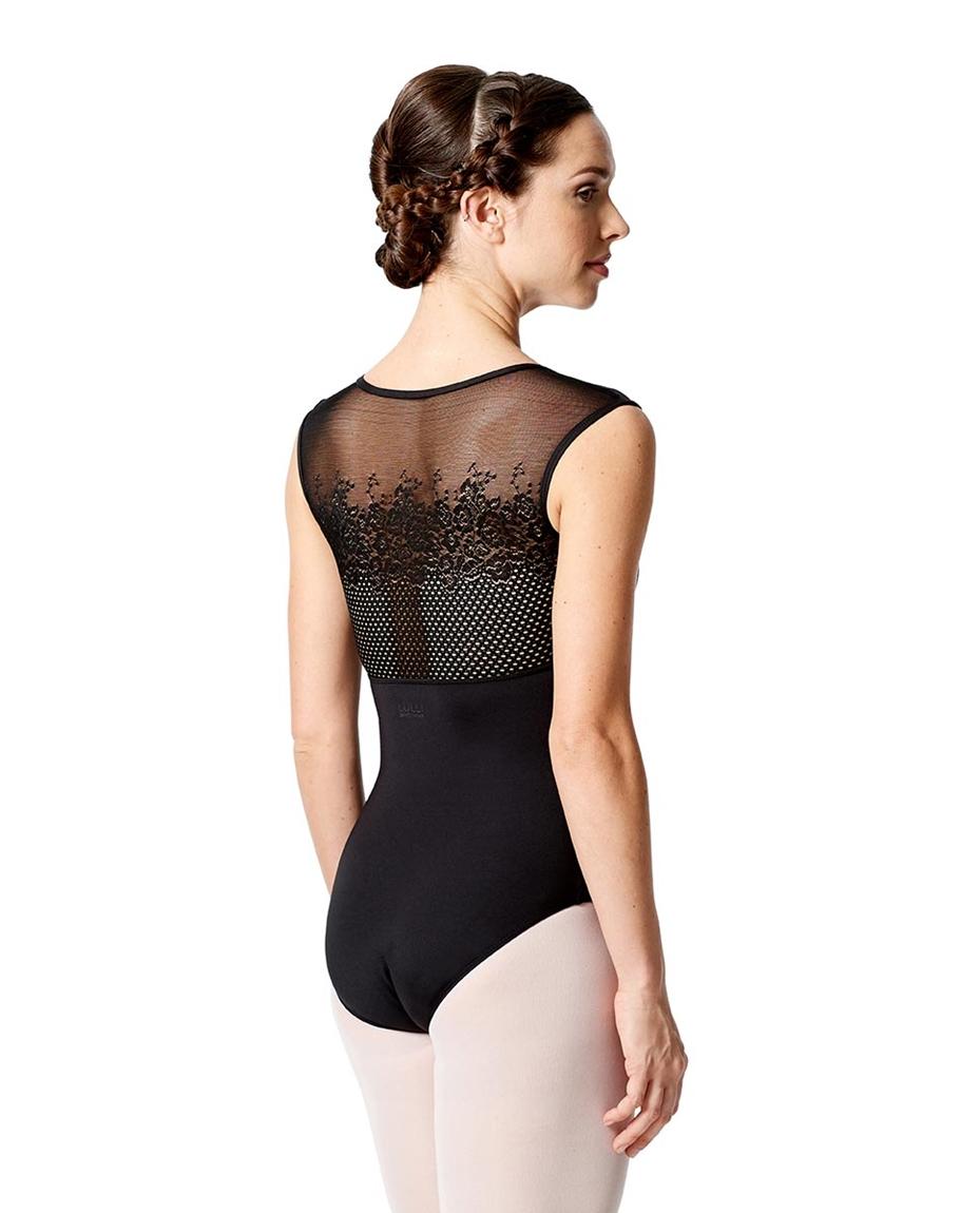 Womens Cap Sleeves Mesh Dance Leotard Annalisa back-girls-mesh-cap-sleeves-dance-leotard-annalisa