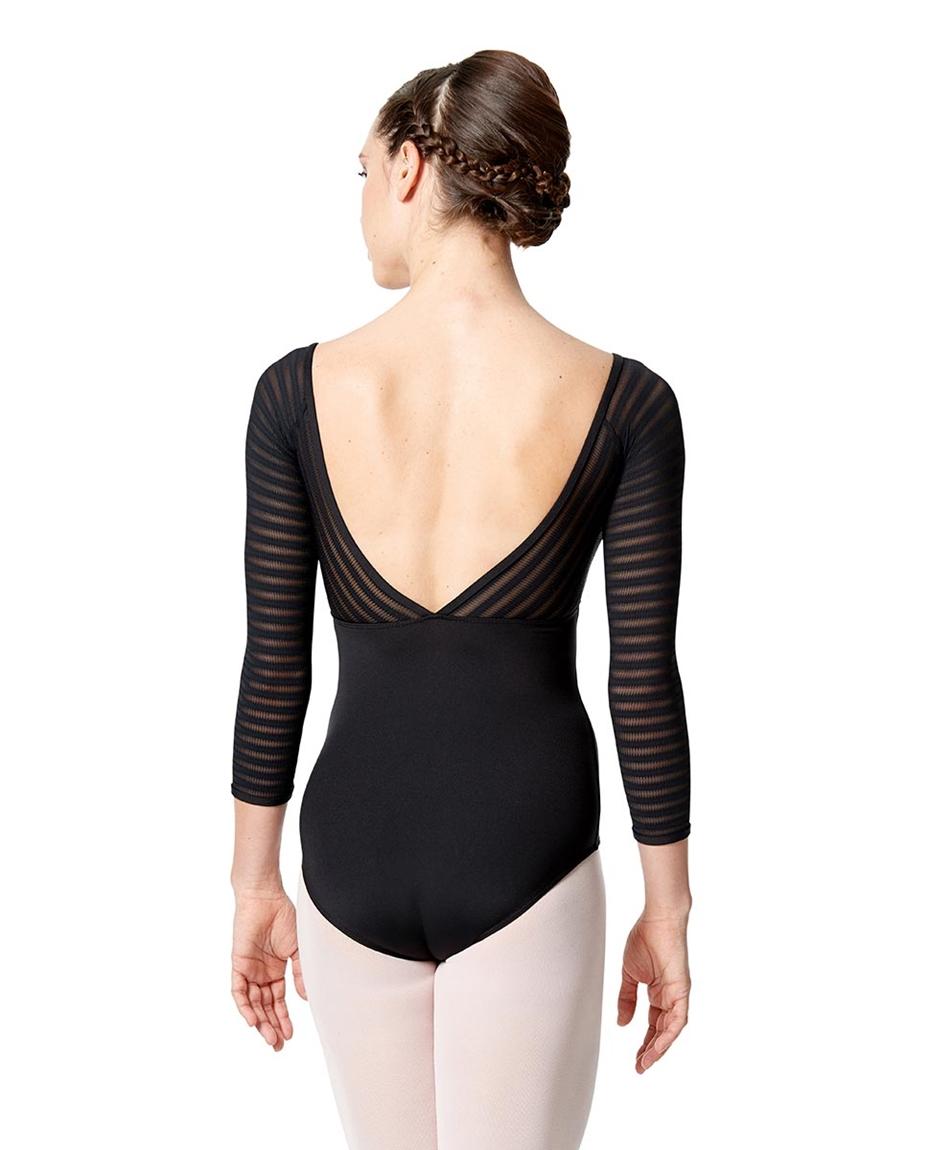 Womens Long Sleeve Dance Leotard Milena back-womens-long-sleeve-dance-leotard-milena