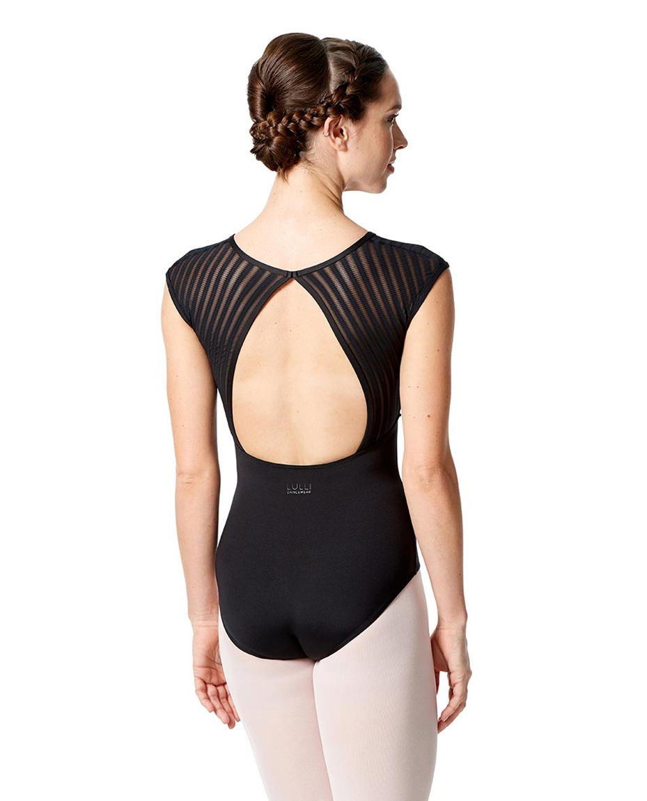 Cap Sleeves Dance Leotard Albina back-cap-sleeves-dance-leotard-albina