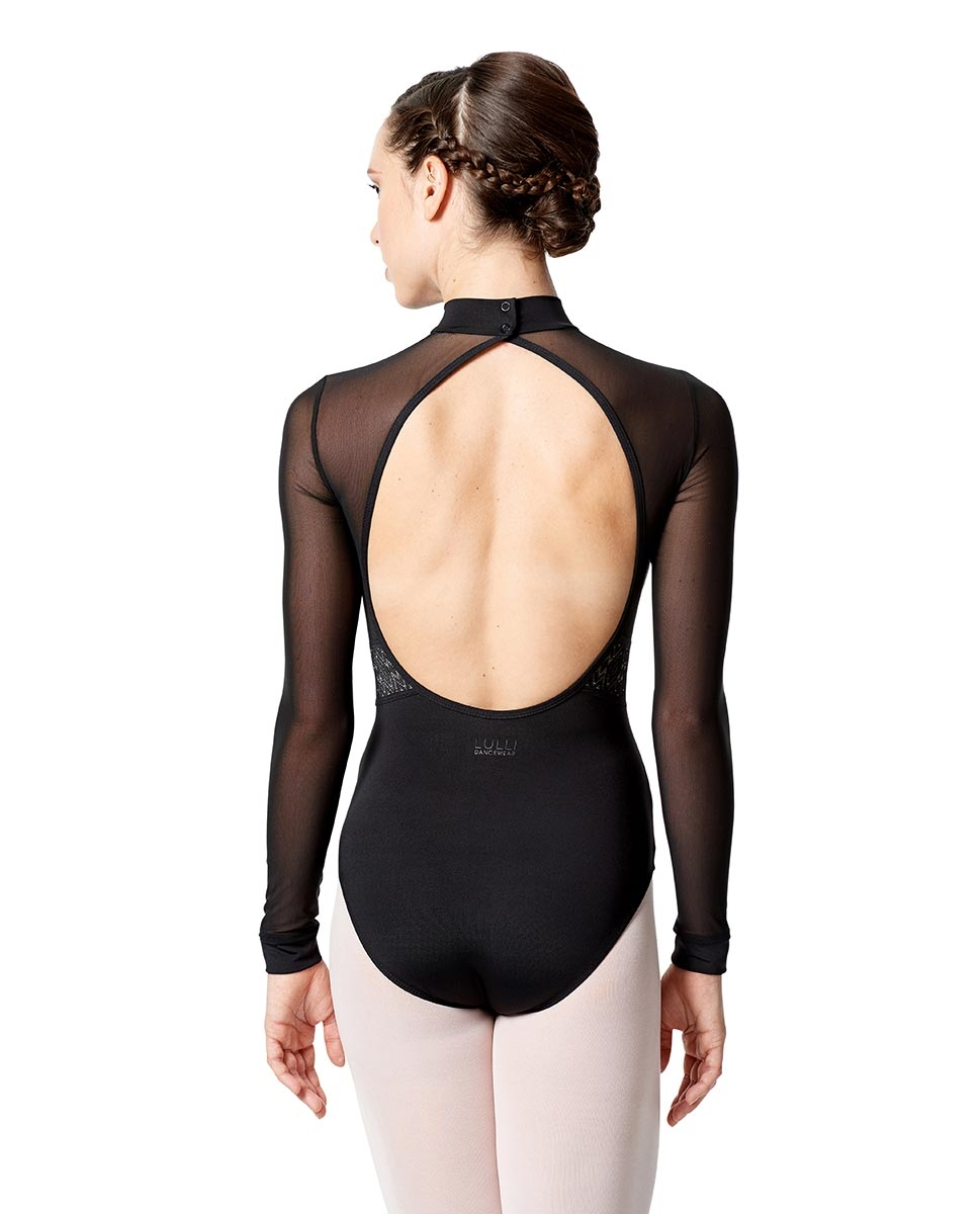 Womens Long Sleeve Performance Dance Leotard Gabriela back