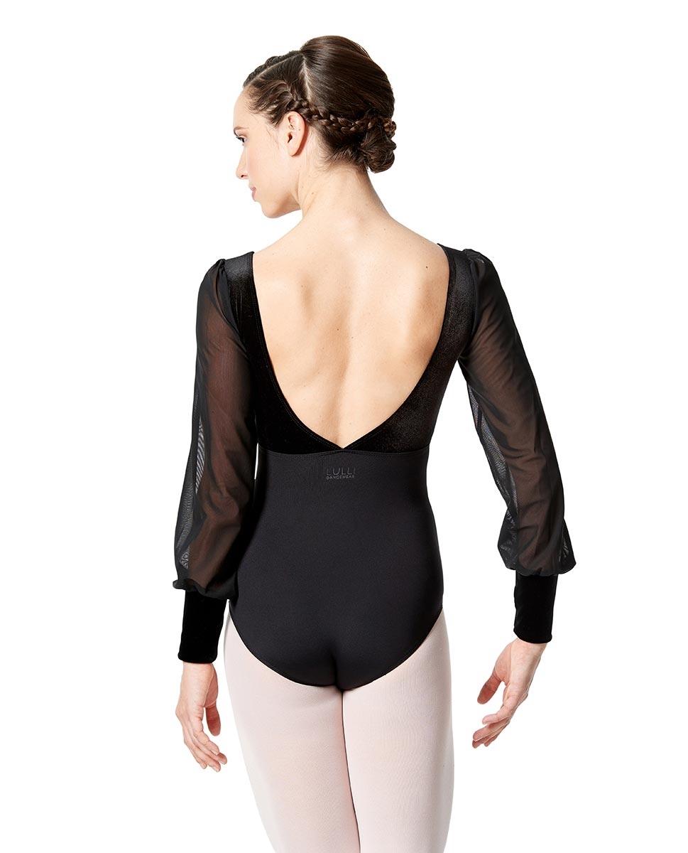 Womens Long Sleeve Performance Dance Leotard Fiorella back