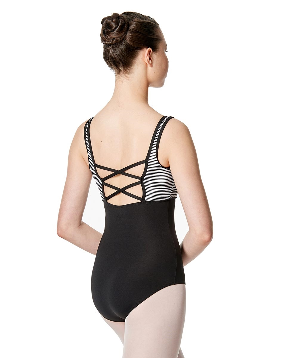 Women Strappy Back Tank Leotard Estelle back