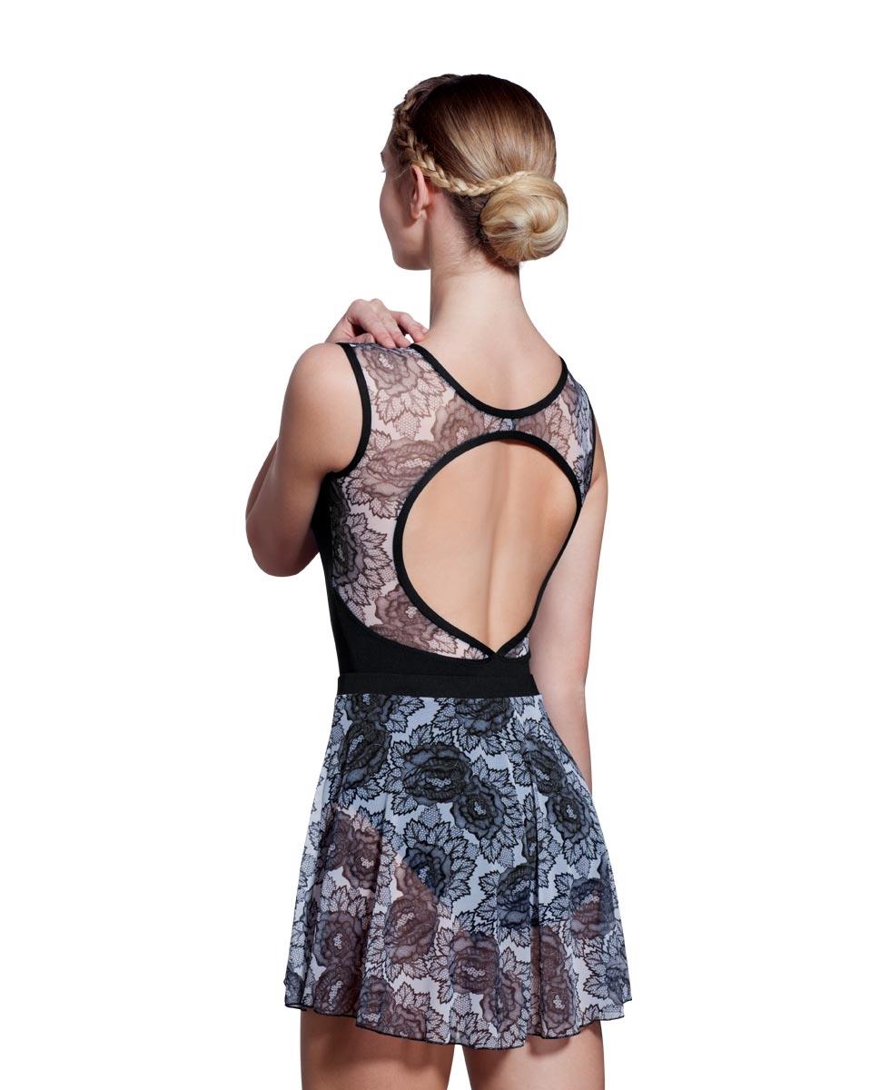 Adult Floral Printed Mesh Skirt Jordan back