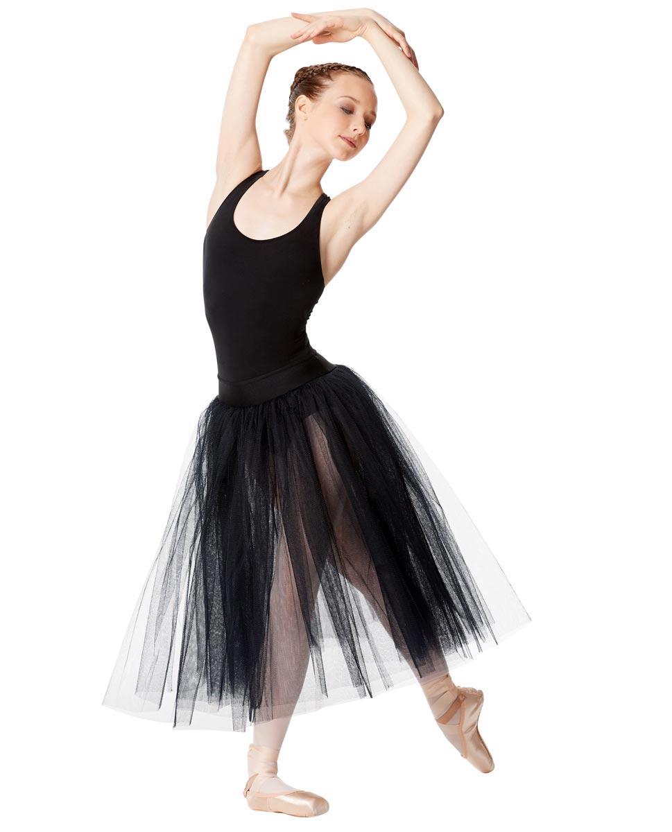 Adult Romantic Ballet Skirt Aerin BLK