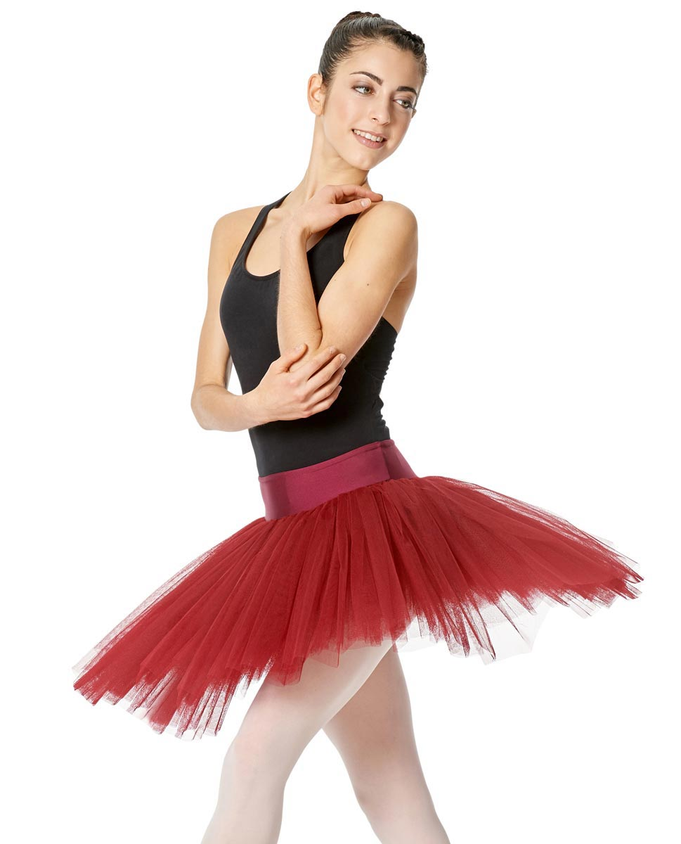 Adult 6 Layers Ballet Tutu Skirt Adelaide RED