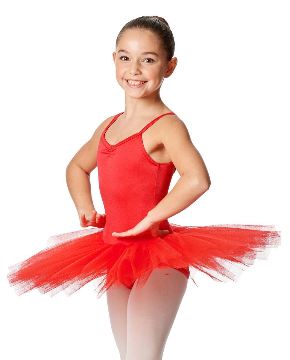 Child Camisole Tutu Ballet Dress Everly RED