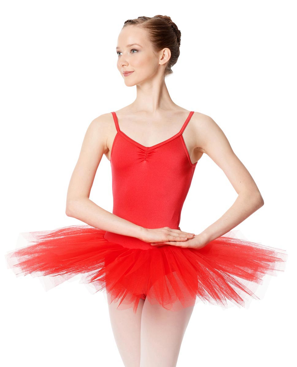 Adult Camisole Tutu Ballet Dress Everly RED