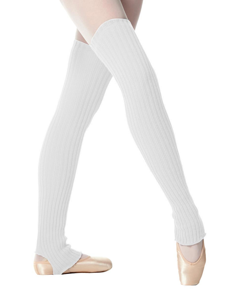 Adult Stirrup Leg Warmers 90 cm WHI