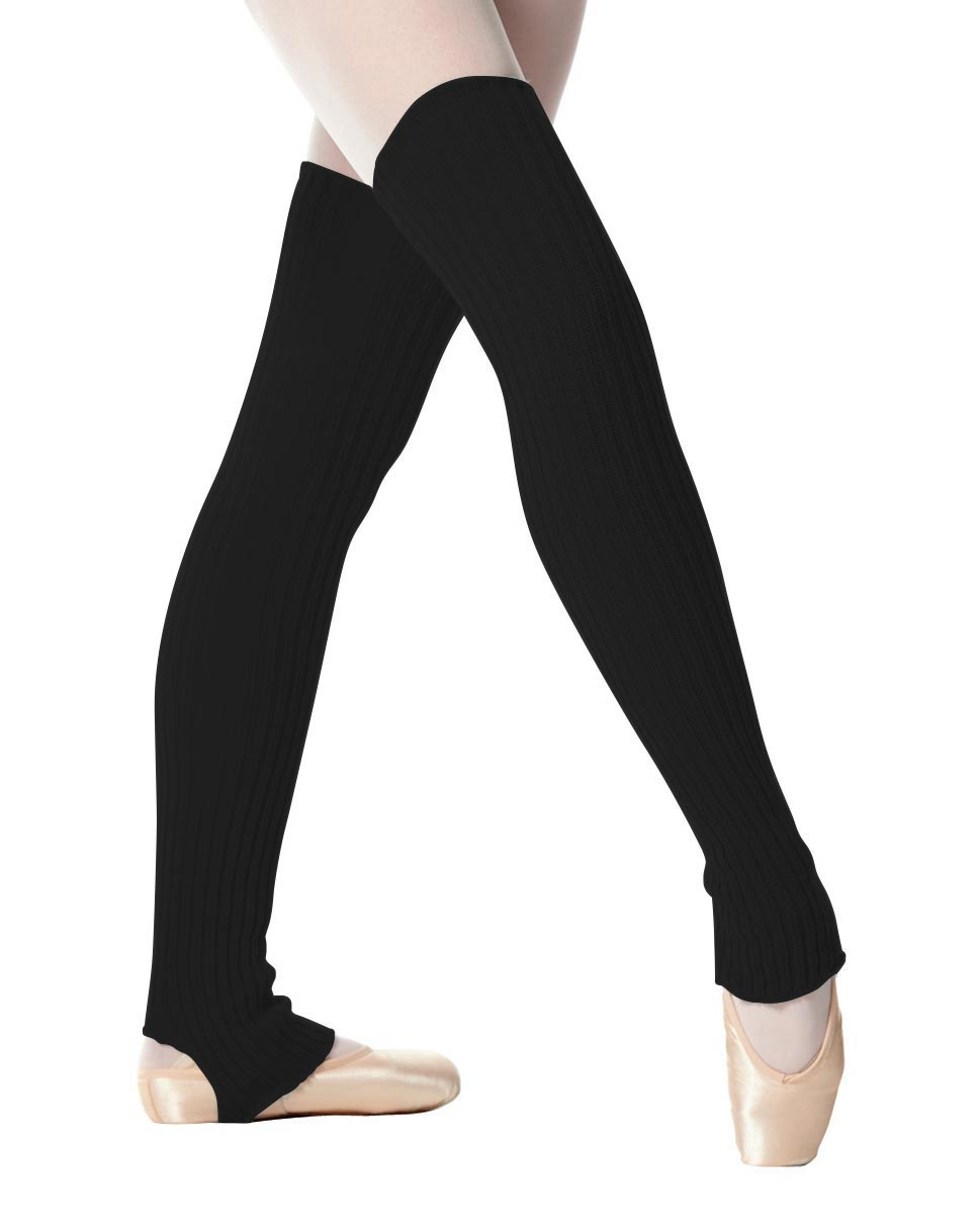 Adult Stirrup Leg Warmers 90 cm BLK