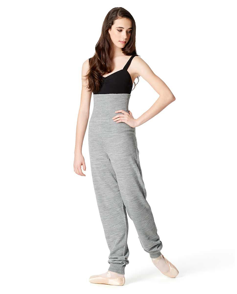 Adults High Waist Knit Dance Pants GRE