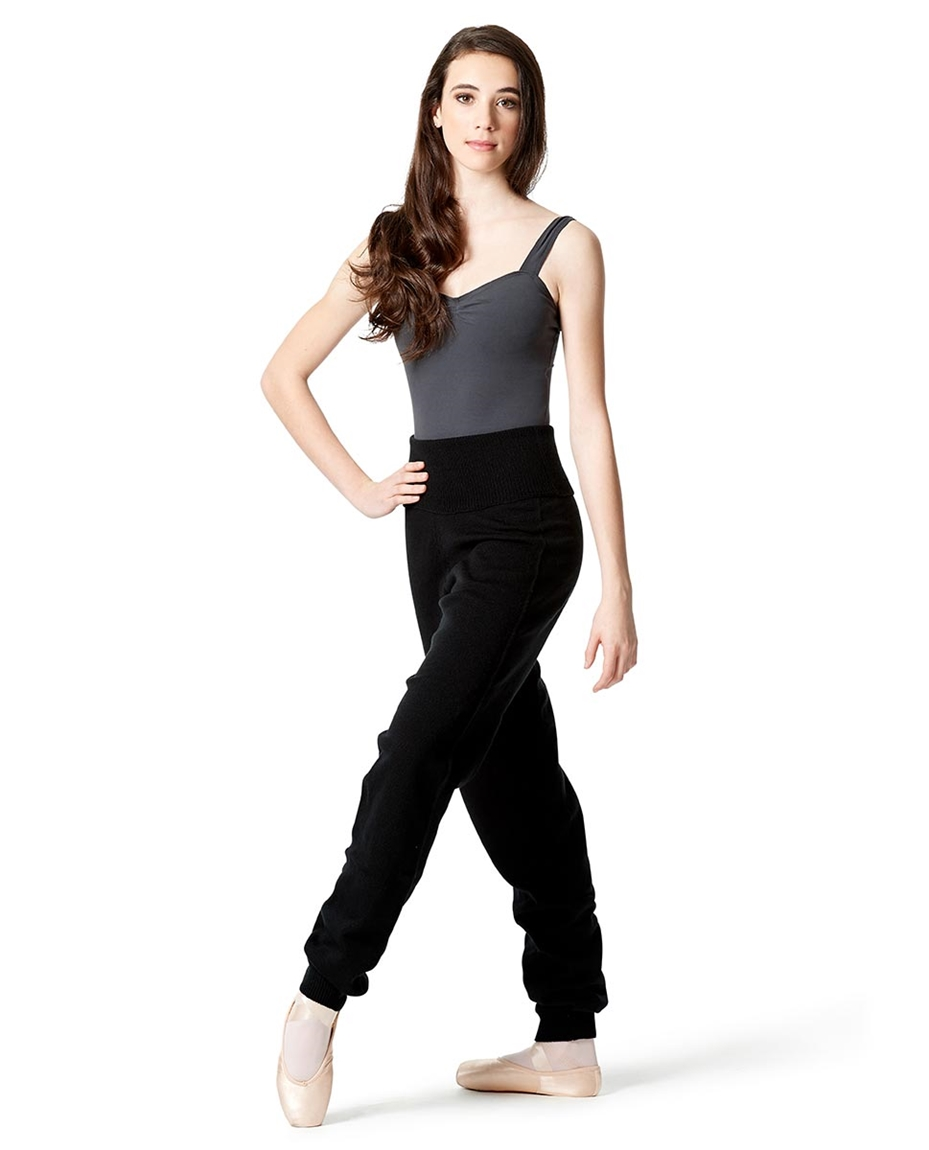 Adults High Waist Knit Dance Pants ditail