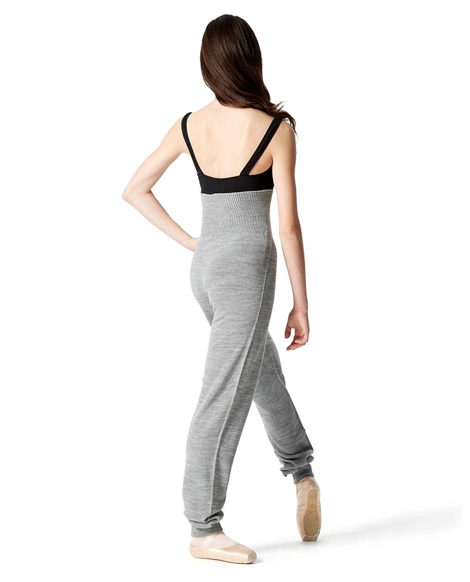 Adults High Waist Knit Dance Pants back-adults-shirred-hem-high-waist-knit-warm-up-pants