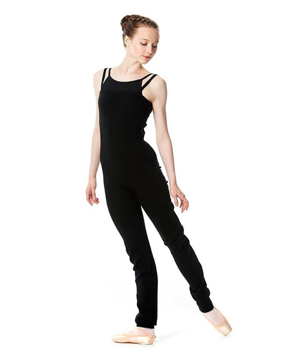 Adult Knit Long Dance Unitard BLK