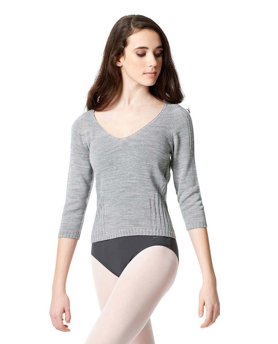 Knit Long Sleeve Dance Warm Up Sweater GRE