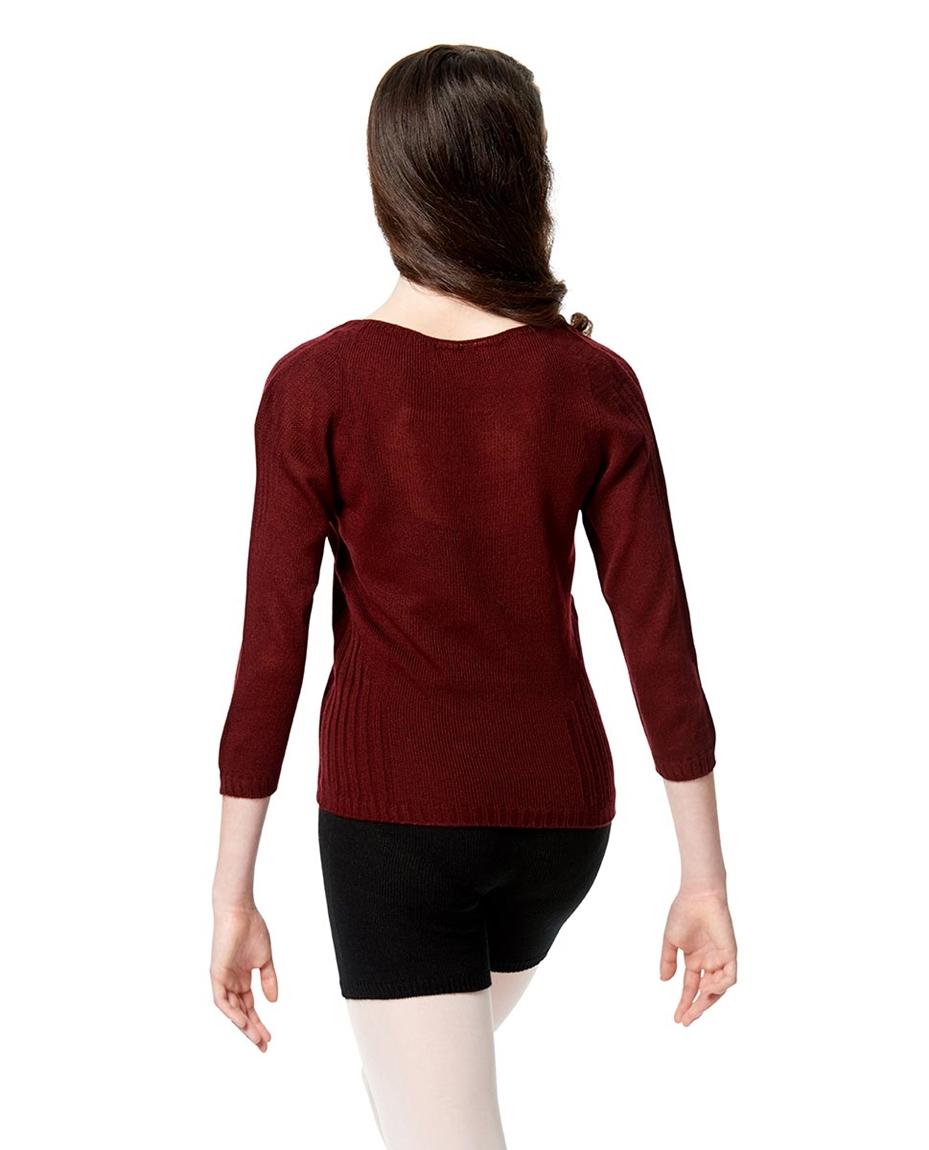Knit Long Sleeve Dance Warm Up Sweater Back-knit-long-sleeve-warm-up-sweater