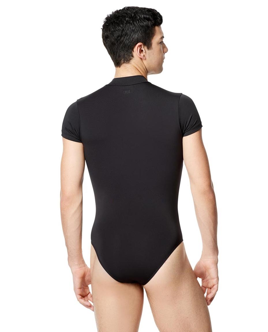 Mens Short Sleeve  Mock Neck  Leotard Eddie 2-mens-microfiber-mock-neck-short-sleeve-leotard-eddie