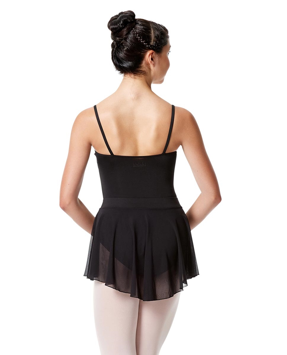 Pull On Dance Skirt Hania  Back-girls-mesh-skirt-hania-with-wide-elastic-waist-band