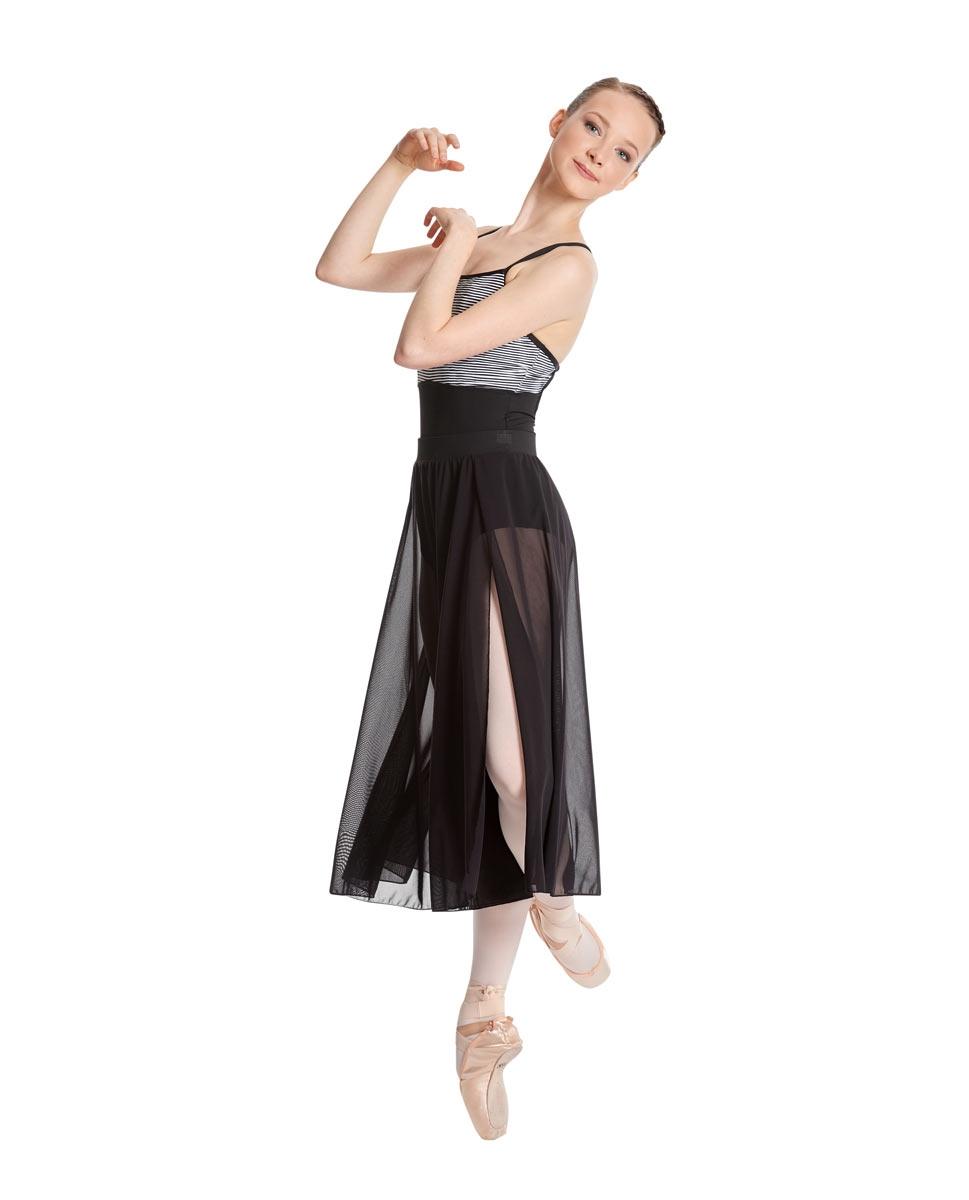 Adult Side Slit Dance Skirt Bella back