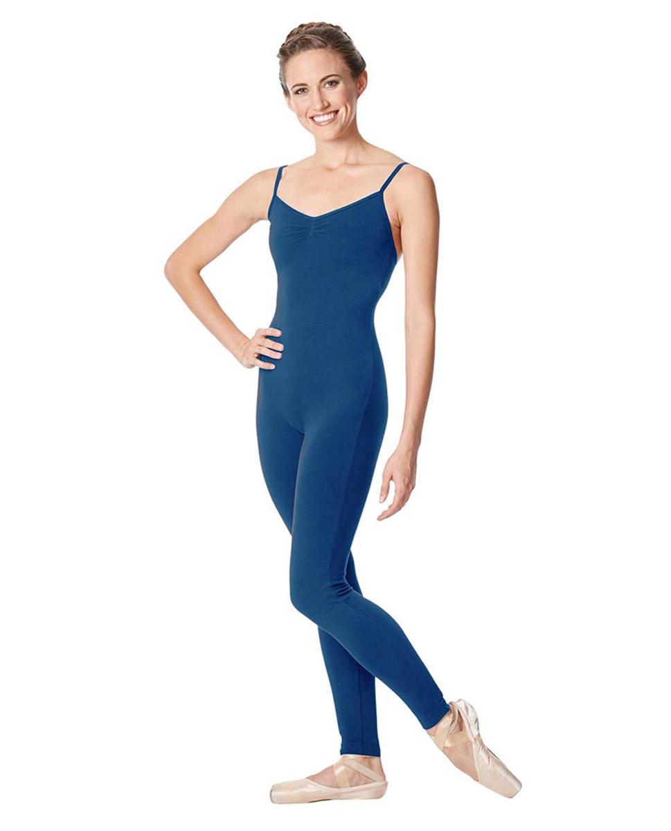 Adult Camisole Pinch Front Dance Unitard Aurora BLUE