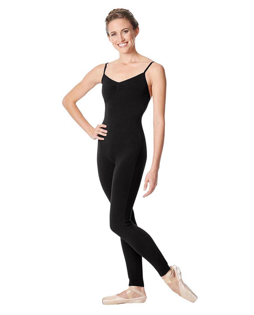 Adult Camisole Pinch Front Dance Unitard Aurora BLK