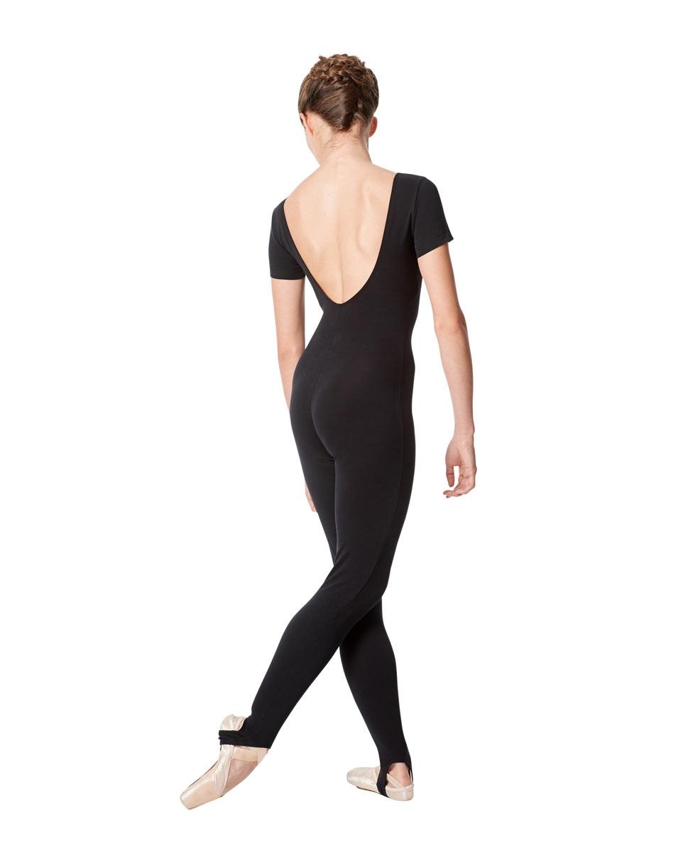 Short Sleeve Ankle Length Dance Unitard Sophie back