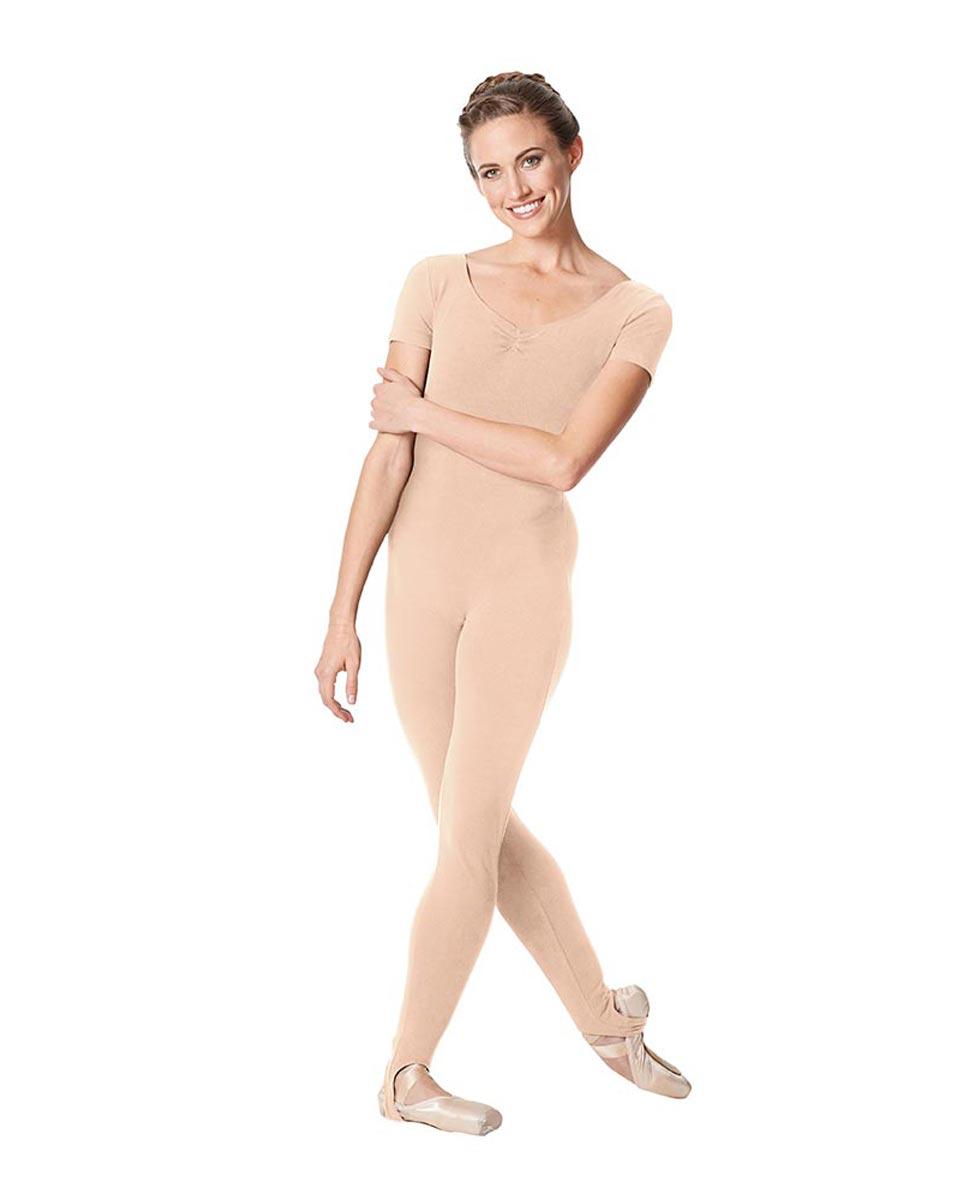 Short Sleeve Ankle Length Dance Unitard Sophie LNUD