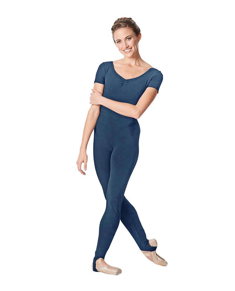 Short Sleeve Ankle Length Dance Unitard Sophie JEA