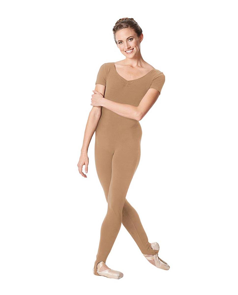 Short Sleeve Ankle Length Dance Unitard Sophie DNUD