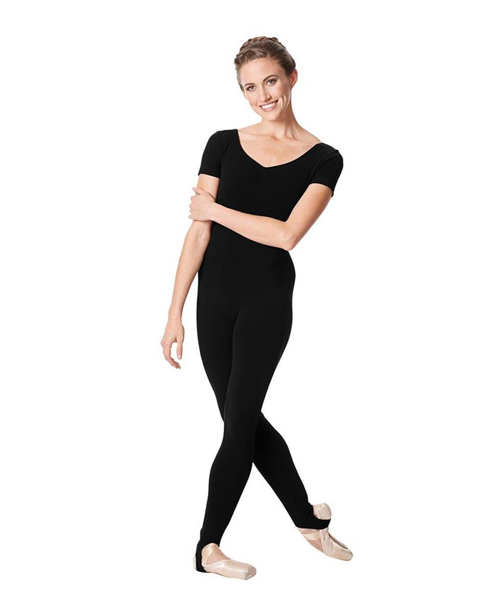 Short Sleeve Ankle Length Dance Unitard Sophie BLK