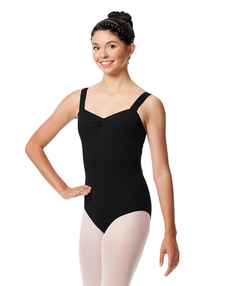 Adult Wide Straps Leotard Constanza  BLK