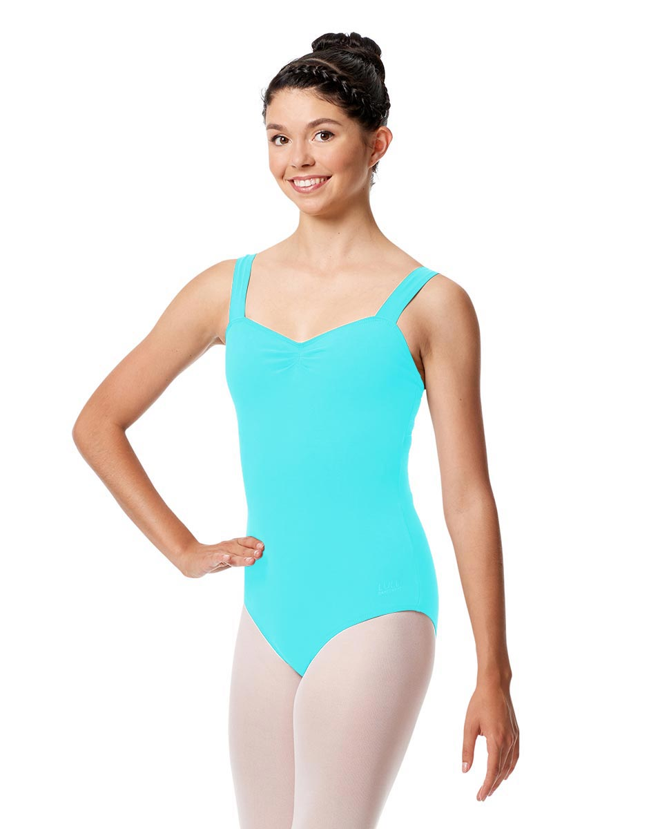 Adult Wide Straps Leotard Constanza  ABLU