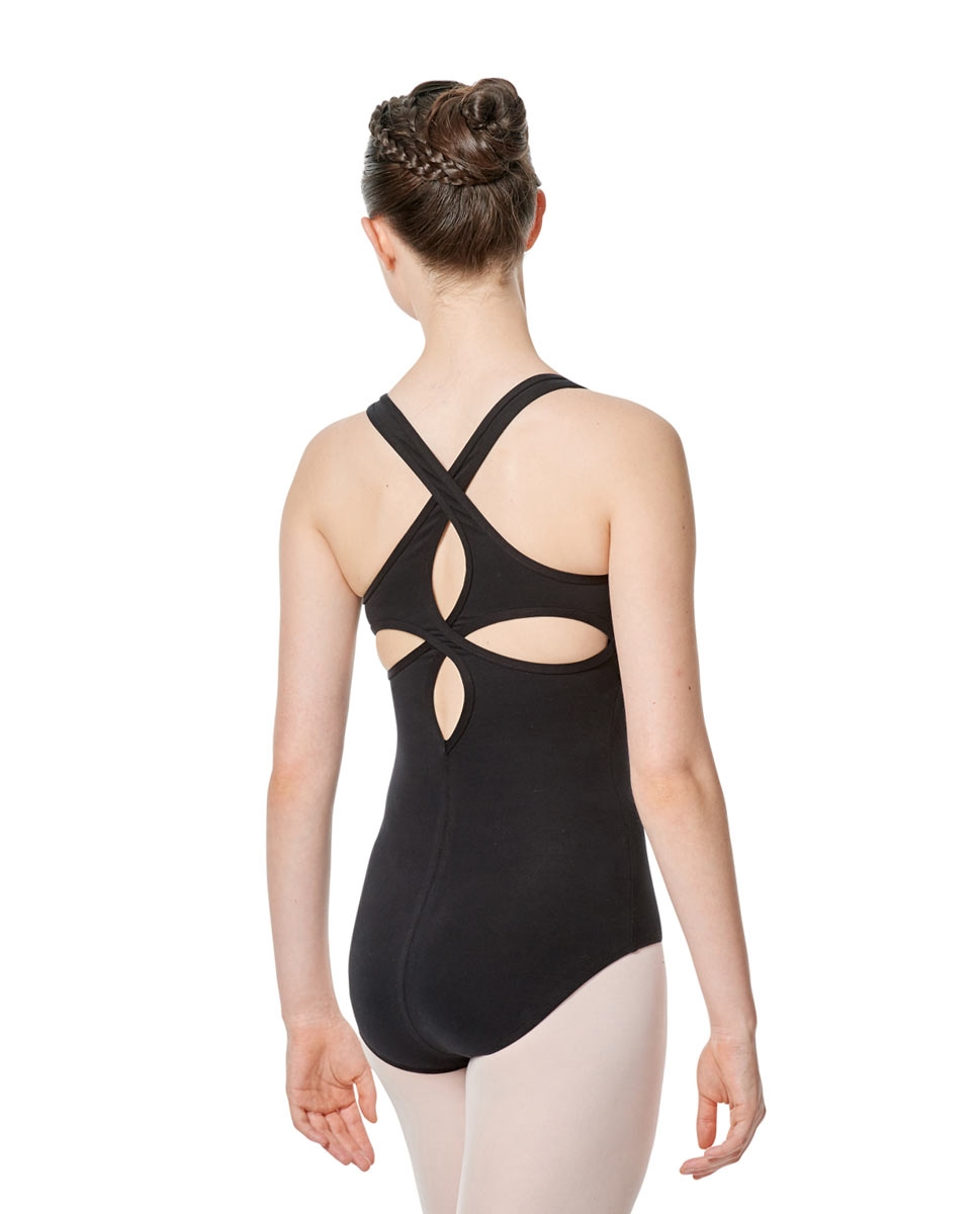 Twist Back Dance Leotard Stella back