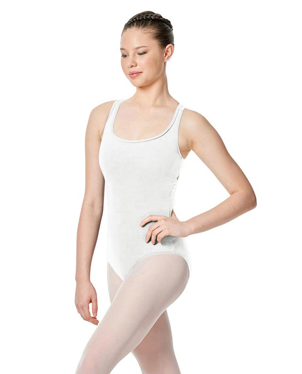 Twist Back Dance Leotard Stella WHI